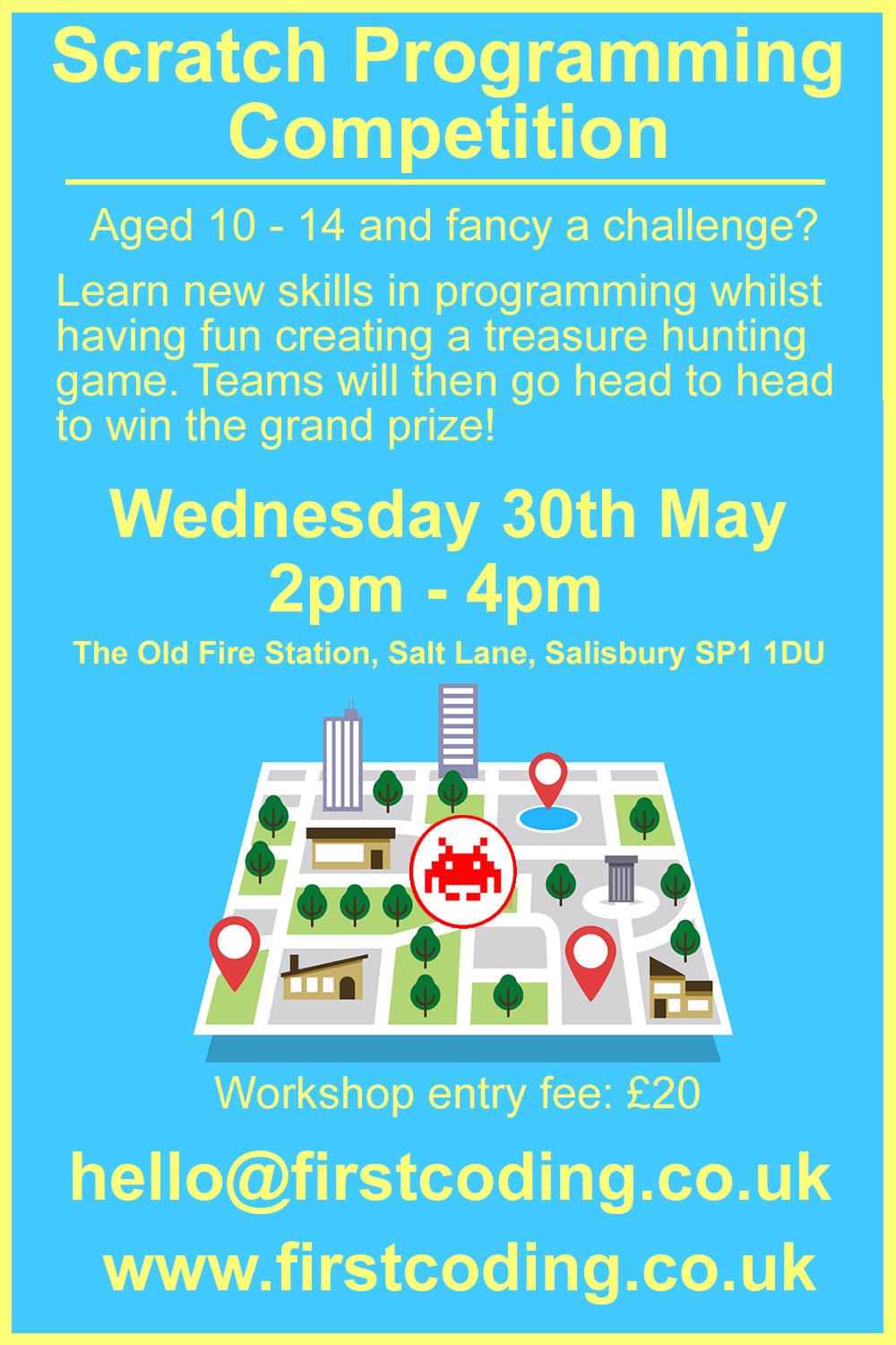 First Coding's Half Term Scratch Competition.