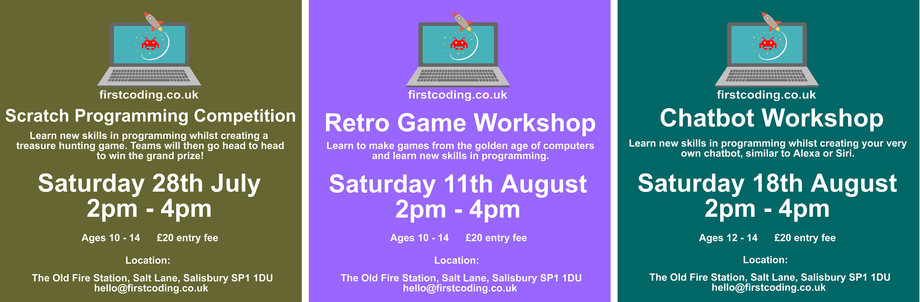 First Coding Summer Holiday Workshops in Salisbury