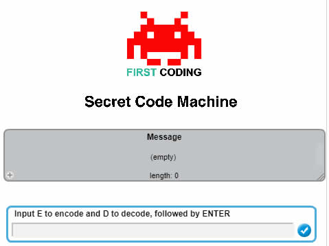 First Coding Spy Month - The Secret Code Machine