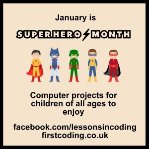First Coding Salisbury - Superhero Month